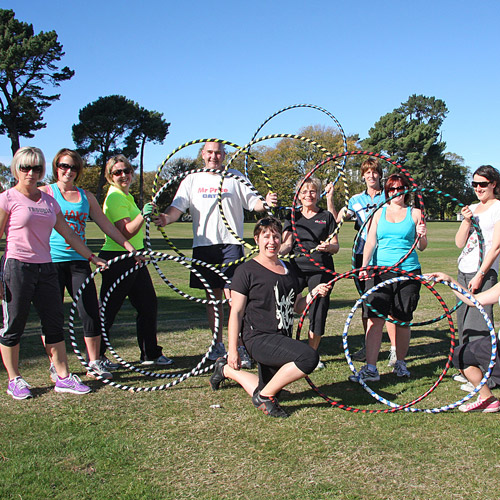 In 2 hula hooping classes for fitness Christchurch