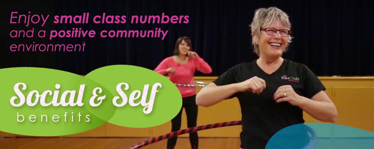 groupa fitness classes hula hooping