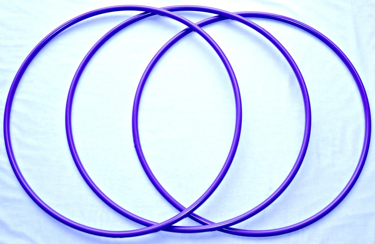 small purple hoops